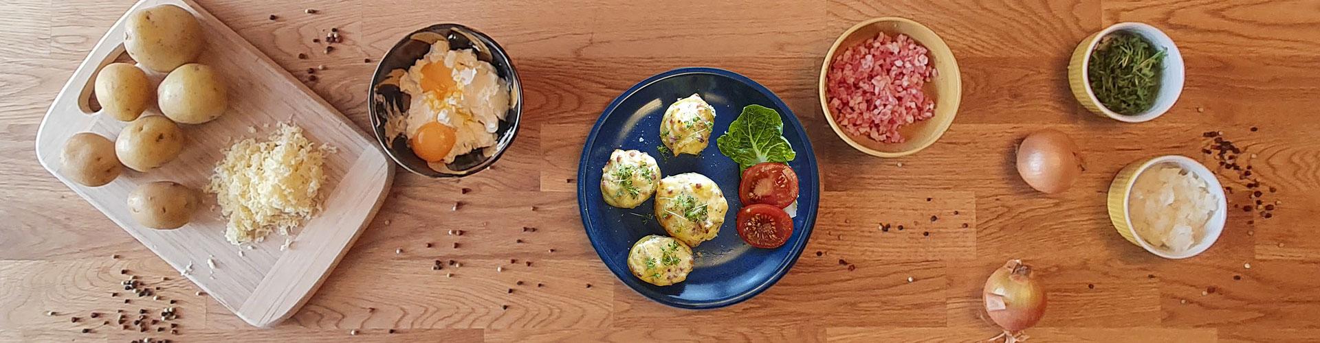 Käse-Schinken-Ofenkartoffeln - Dein Rezept auf Rezept-Buch.de